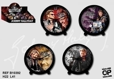 Lot De 4 Reveils Johnny Hallyday Assortis D 13cm