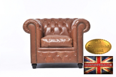 Fauteuil Chesterfield Vintage Mocha