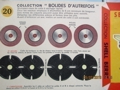 ALP89 COLLECTION BOLIDES D'AUTREFOIS TRES RARE
