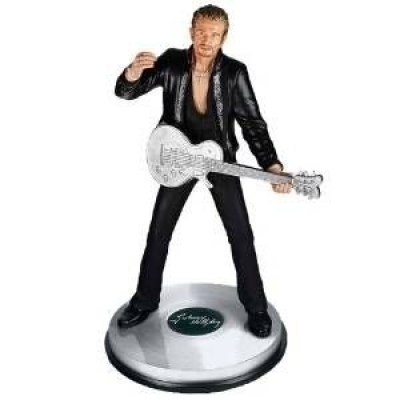 Figurine Collector Johnny Hallyday 46 cm Guitare
