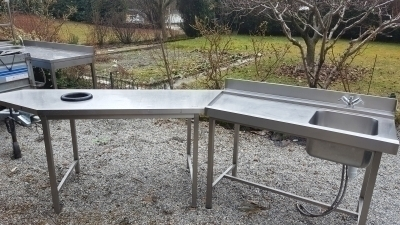 plonge tables inox
