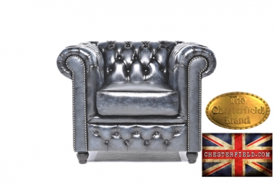 Canapé Original Chesterfield Antique bleu 1 place